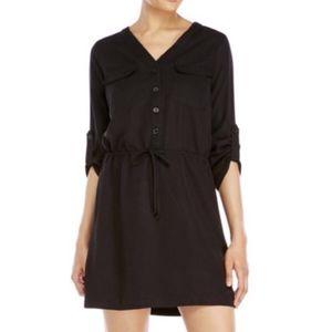 Max Studio Black Shirt Dress Medium